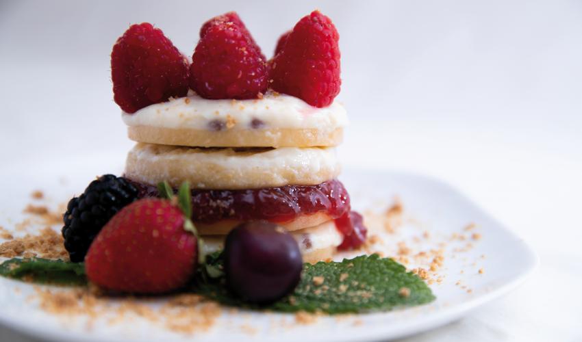 Naturcremșnit cu iaurt și fructe roșii